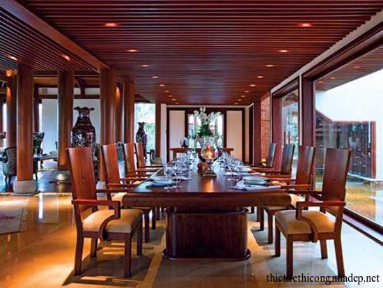 bàn ghế ăn sang trọng cho nhà hàng