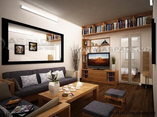 mẫu đồ gỗ phòng khách