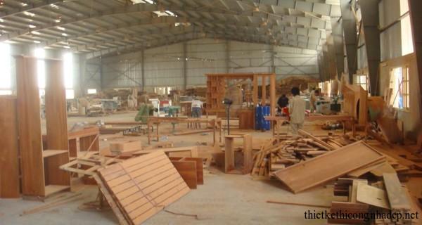 Hình ảnh xưởng sản xuất gỗ chỉ mang tính tham khảo