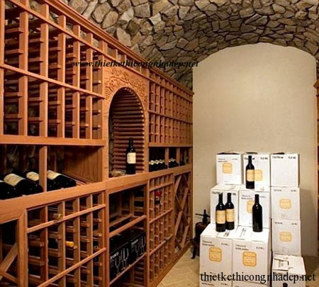 Hầm chứa rượu có thể dành tiếp đãi nhiều khách
