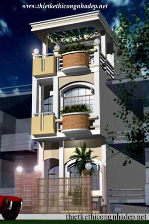 mẫu thiết kế nhà phố số 10