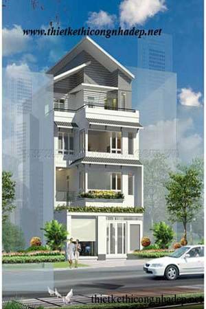 mẫu thiết kế nhà phố số 12