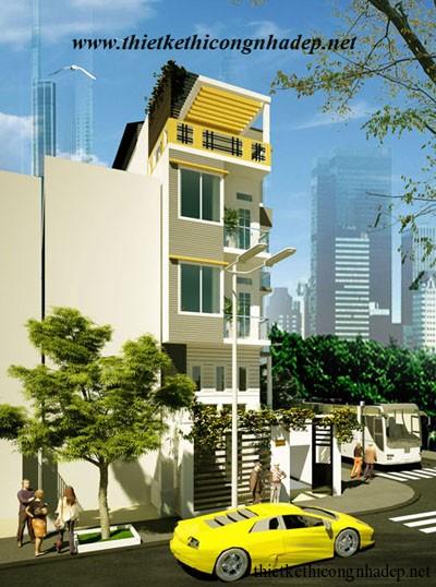 mẫu thiết kế nhà phố số 5
