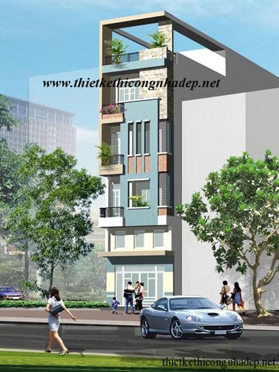 mẫu thiết kế nhà phố số 8