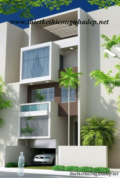 mẫu thiết kế nhà phố số 9