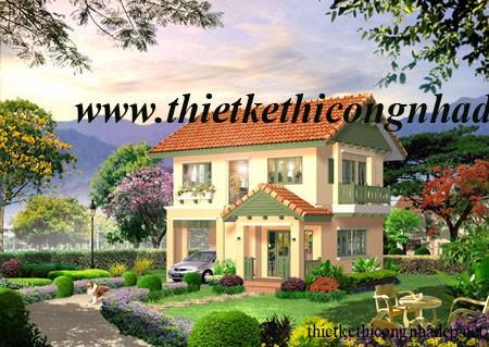 mẫu thiết kế biệt thự vườn