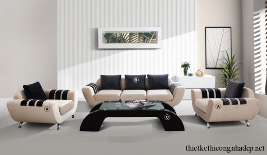 Sofa phòng khách cao cấp hiện đại