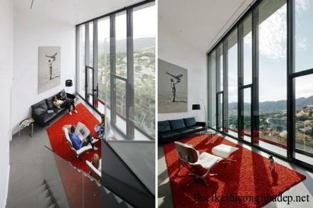 Nội thất phòng khách với không gian mở