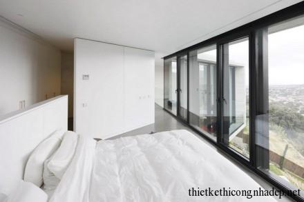 Phòng ngủ cũng được thiết kế theo không gian mở