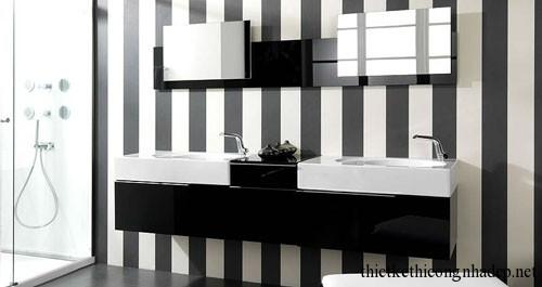 Thiết kế nội thất phòng tắm nhỏ đẹp hiện đại