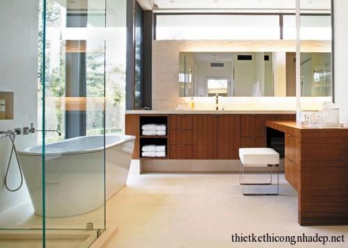 Mẫu thiết kế nội thất phòng tắm hiện đại số 9