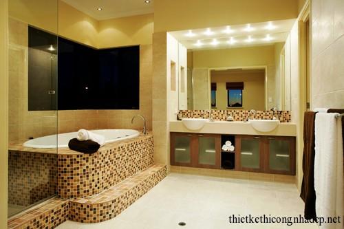Mẫu thiết kế nội thất phòng tắm hiện đại số 7