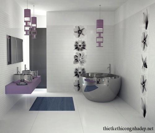 Mẫu thiết kế nội thất phòng tắm hiện đại số 6