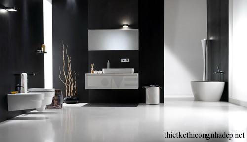 Mẫu thiết kế nội thất phòng tắm hiện đại số 12