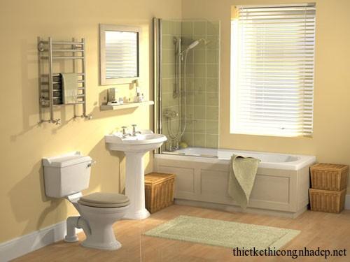 Mẫu thiết kế nội thất phòng tắm hiện đại số 2