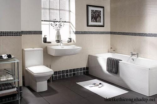 Mẫu thiết kế nội thất phòng tắm hiện đại số 4