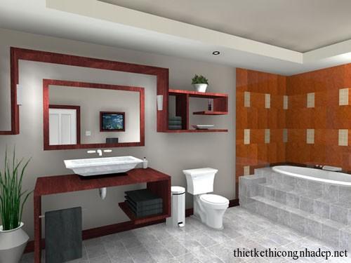 Thiết kế phòng tắm nhỏ đẹp hiện đại