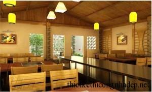 Thiết kế thi công phối cảnh nội thất nhà hàng