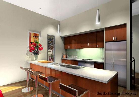 mẫu thiết kế phòng bếp số 4