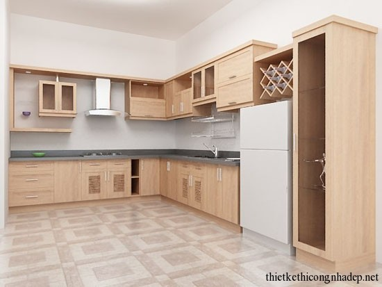 mẫu thiết kế phòng bếp số 6