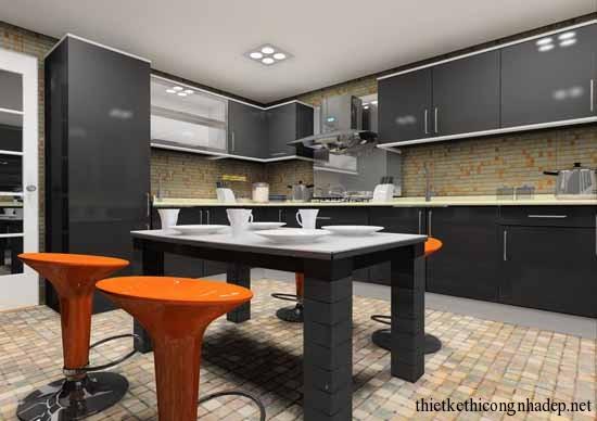 mẫu thiết kế phòng bếp số 17