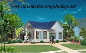 Mẫu thiết kế nhà cấp 4 nông thôn số 1