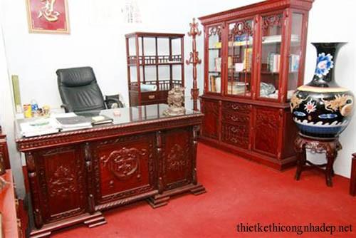 Nội thất văn phòng đồ gỗ giả cổ