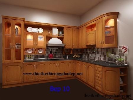 mẫu tủ bếp hiện đại số 7