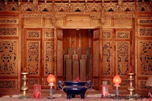 mẫu phòng thờ, bàn thờ gia đình số 7