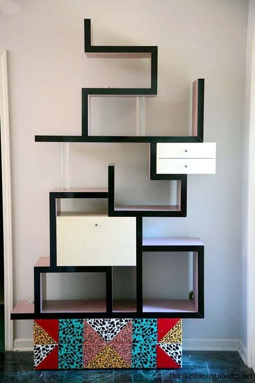 Mẫu thiết kế giá sách gỗ đẹp độc đáo