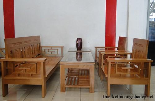 Mẫu bàn ghế sofa gỗ đẹp