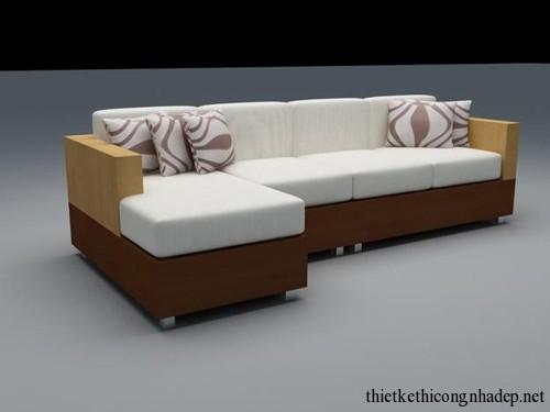 Mẫu bàn ghế sofa gỗ nỉ đẹp