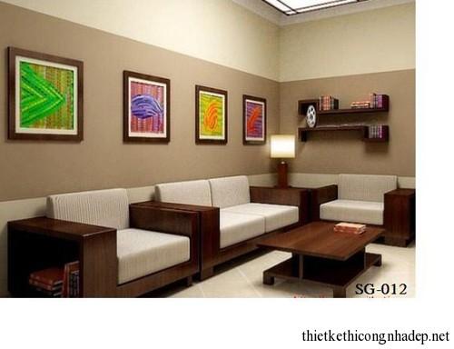Mẫu bàn ghế sofa gỗ văn phòng hoặc phòng khách đẹp