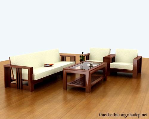 Mẫu bàn ghế sofa gỗ tự nhiên, gỗ xoan đào