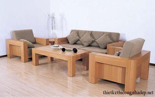 Mẫu bàn ghế sofa gỗ sồi mỹ đẹp