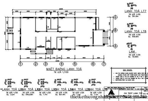 Bản vẽ kết cấu thiết kế nhà 1 tầng đẹp
