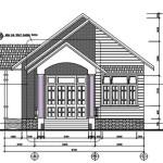 Thiết kế nhà 1 tầng đẹp diện tích 8.5×24 mét