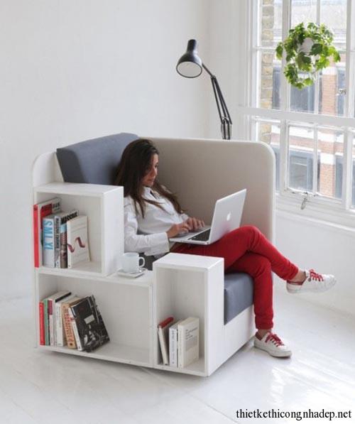 Sofa bookshelf (sofa kết hợp giá sách) số 1