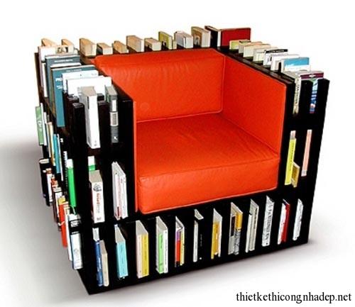 Sofa bookshelf (sofa kết hợp giá sách) số 12