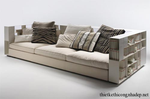 Sofa bookshelf (sofa kết hợp giá sách) số 7