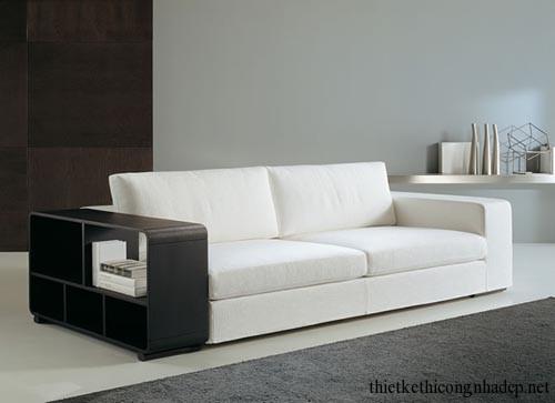 Sofa bookshelf (sofa kết hợp giá sách) số 8