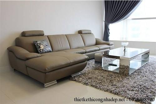Sofa giả da phòng khách cao cấp số