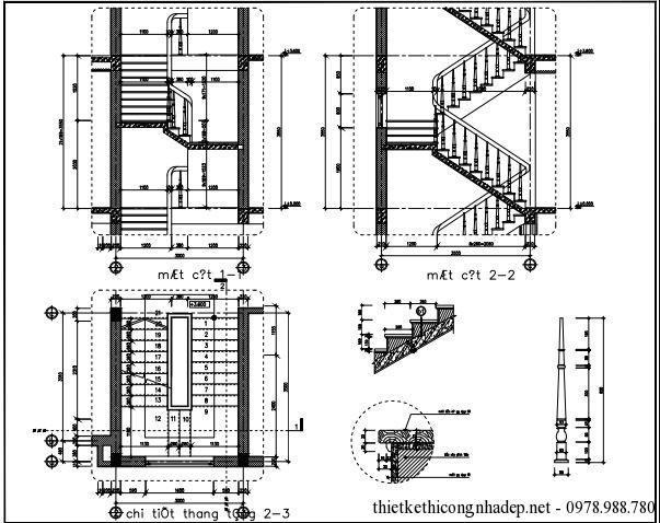 Bản vẽ chi tiết cầu thang 1