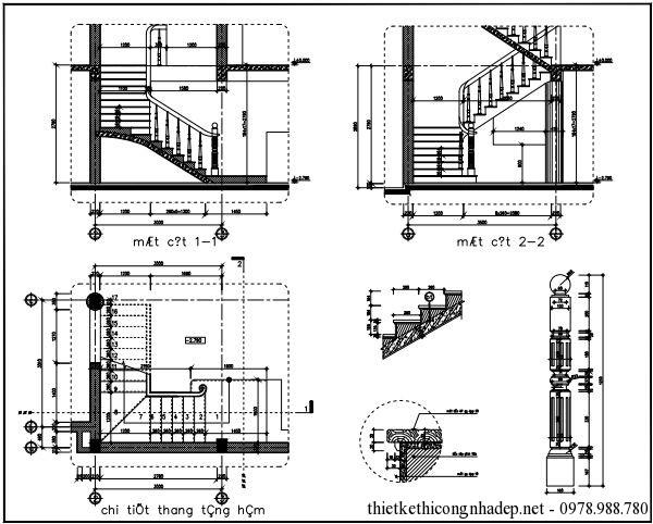 Bản vẽ chi tiết cầu thang 2