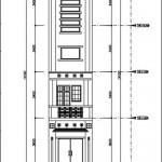 Bản vẽ chi tiết thi công nhà ống 3 tầng diện tích 3.2 x 16.5