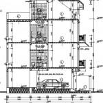 Bản vẽ chi tiết thi công nhà phố diện tích 10.19 x 6 mét