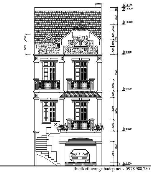 mặt tiền của nhà phố