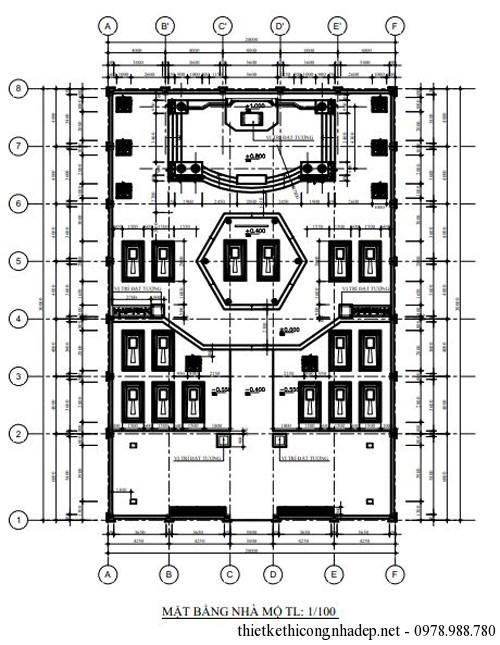 Bản vẽ chi tiết khác nhà thờ
