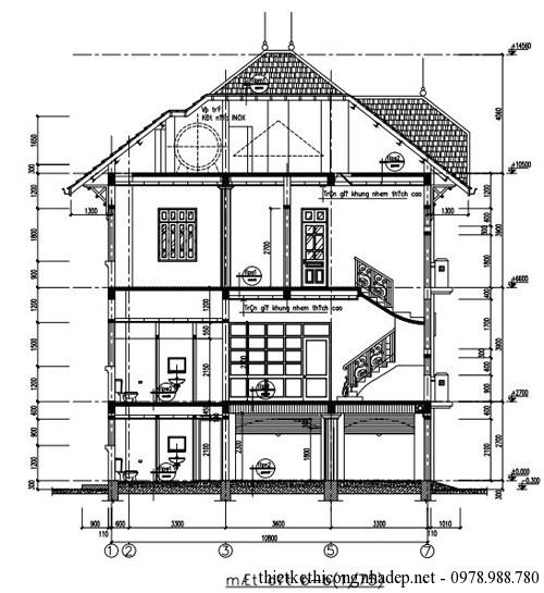 Bản vẽ thiết kế kiến trúc biệt thự A-C