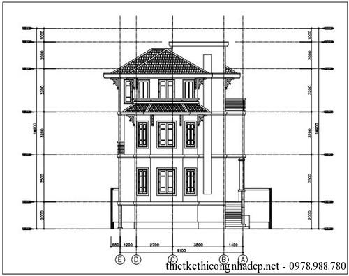 Thiết kế kiến trúc của biệt thự 10.5 x 9.1 mét